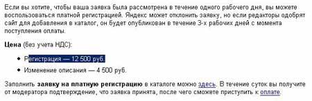 Регистрация в каталоге яндекс