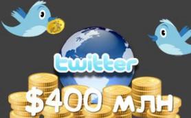 Доходы от рекламы в Twitter могут достичь $400 млн. долларов в этом году