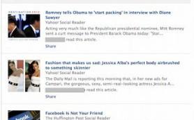 Facebook вставит в ленту новостей популярные статьи