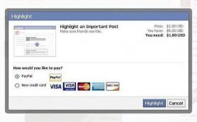 Facebook тестирует платное продвижение постов