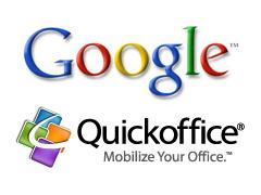 Google покупает мобильные технологии Quickoffice