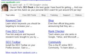 Google тестирует Sitelinks по категориям