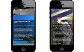 Yahoo обновил мобильное приложение для iPhone
