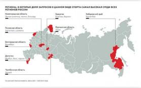 Яндекс исследовал популярность видов спорта в разных регионах России