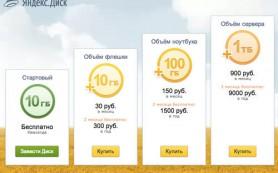 Яндекс.Диск начал продажу дополнительного пространства