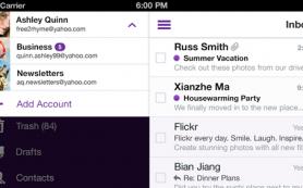 В приложениях Yahoo Mail для iOS и Windows 8 можно связывать аккаунты одного владельца