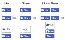 Facebook готовится запустить кнопки «Like» и «Share» в новом дизайне
