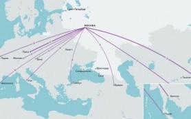 Яндекс исследовал, куда чаще всего летают москвичи и петербуржцы