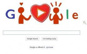 Google и «Яндекс» отметили День влюбленных специальными логотипами