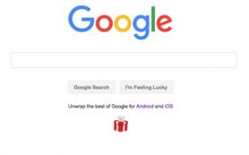 Google использует главную страницу поиска для продвижения своих приложений