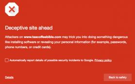 Google начал оповещать об использовании социальной инженерии на сайте