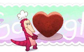 Google отметил День святого Валентина праздничным дудлом