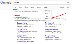Google добавил персональные результаты в поисковые фильтры