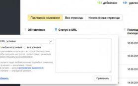 В Яндекс.Вебмастере появились расширенные настройки фильтрации