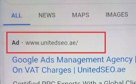Google тестирует чёрный ярлык для рекламных объявлений