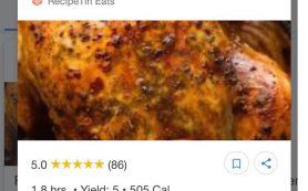 Google тестирует функцию превью для рецептов в результатах поиска