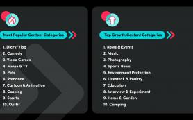 TikTok назвал самые популярные категории контента