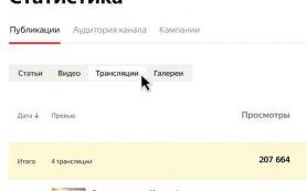 В кабинете Яндекс.Дзена появилась статистика прямых трансляций